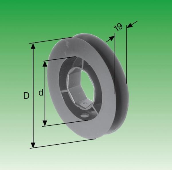 Selve Mini-Gurtscheibe für Stahlwelle SW 40