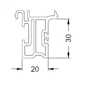 KS-Basisprofil 20/30 | VE = 6m