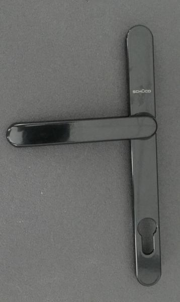 SCHÜCO Nebeneingangstürgriff Halbgarnitur Kurzhals in schwarz