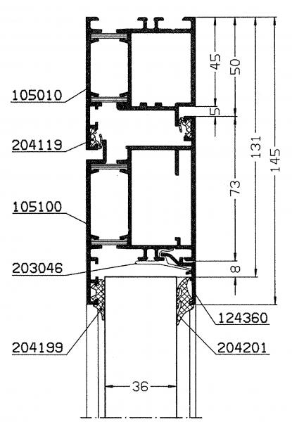 SCHÜCO Anschlagdichtung Aluminium Fenster und Türen