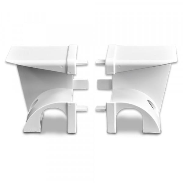 Einlauftrichter mit Ausnehmung, Weiß  100 Paar   RF 8289/8287