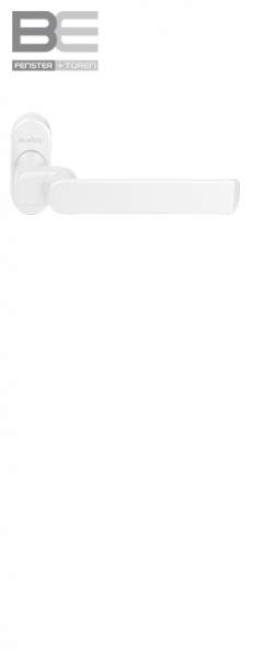 Haustürdrücker 240159 verkehrsweiß RAL 9016 gekröpft