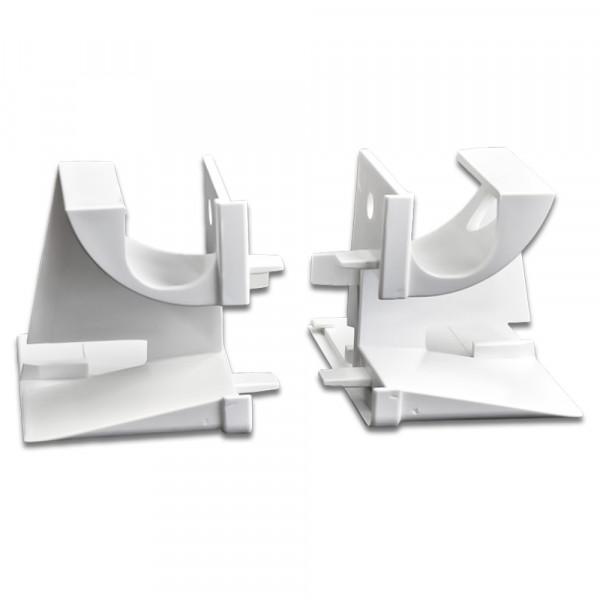 Einlauftrichter mit Ausnehmung, Weiß| 100 Paar
