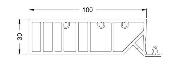 KS-Zargenprofil 100/30 | VE = 2,65m