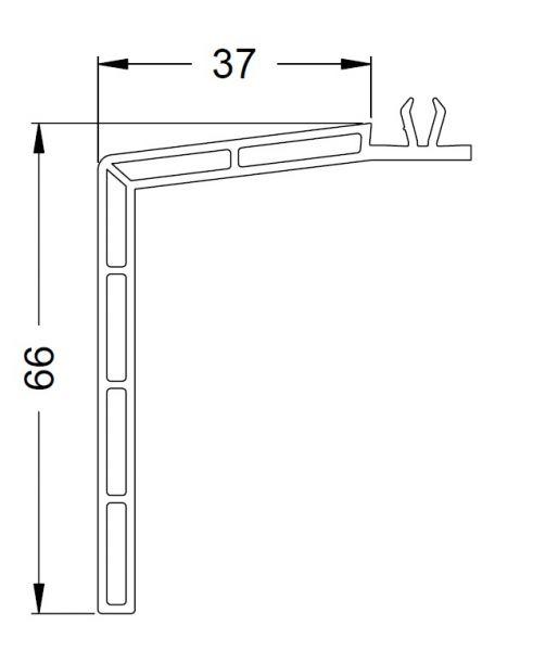 KS-Fensterbankprofil 37/66   VE = 6m