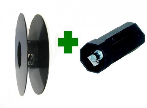 Selve Gurtscheibe für SW 40 D = Ø 130 mm, d = Ø 90 mm mit Walzenkapsel für 23 mm Gurt
