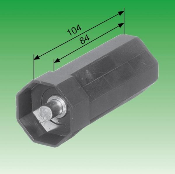 Mini-Walzenkapsel, mit innenliegendem Achsstift ø 10 mm, für Stahlwelle SW 40