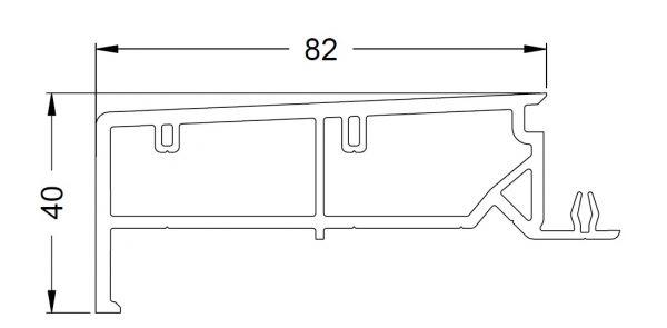 KS-Zargenprofil 82/40   VE = 2,65m
