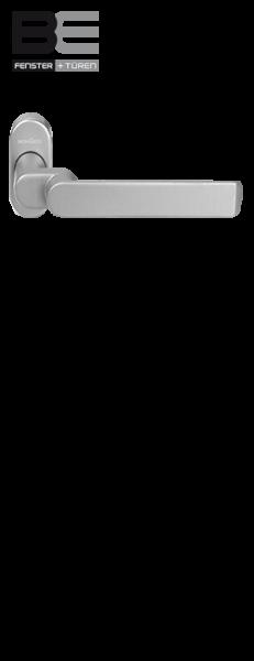 Haustürdrücker 240156 gekröpft silberfarbig EV1