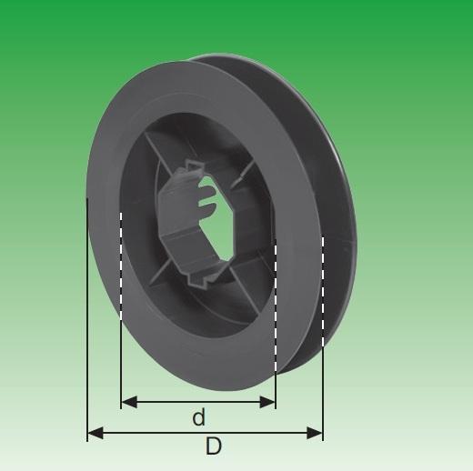 Gurtscheibe SW 50 - D = Ø 190 mm, d = Ø 135 mm