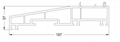 KS-Fensterbankprofil 157/37 | VE = 6m
