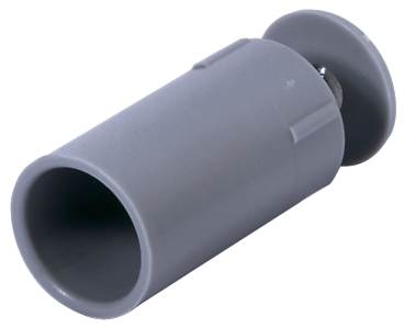 Selve Anschlagstopfen, Länge: 40 mm, mit eingelegter Mutter u. Schraube (4mm)