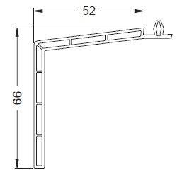 KS-Fensterbankprofil 52/66   VE = 2,65m