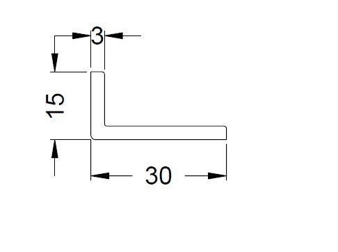 KS-Winkelprofil 30/15/3 | VE = 2,65m