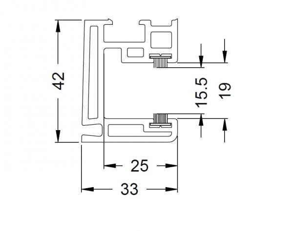 KS-Rollladenführung 42/33 | VE = 6m
