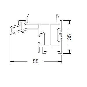 KS-Basisprofil 55/35 | VE = 6m