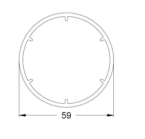 KS-Variable Eckkopplung (KS-Rohr)   VE = 6m