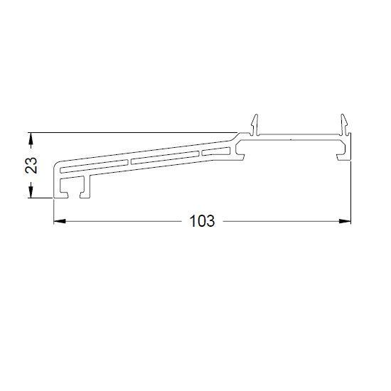 KS-Fensterbankprofil 103/27 | VE = 6m