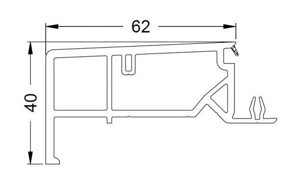 KS-Zargenprofil 62/40 | VE = 2,65m