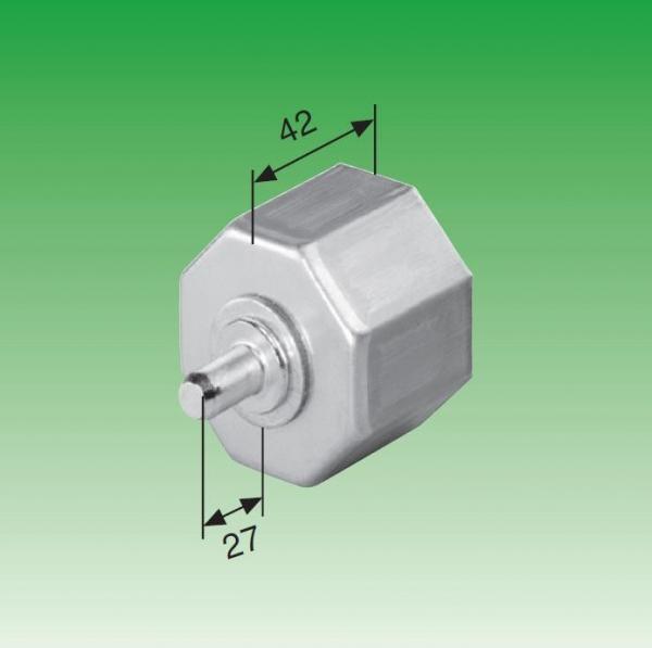 Selve Walzenkapsel aus Metall, kurz, mit Stahl-Achsstift ø 12 mm für Stahlwelle SW 60