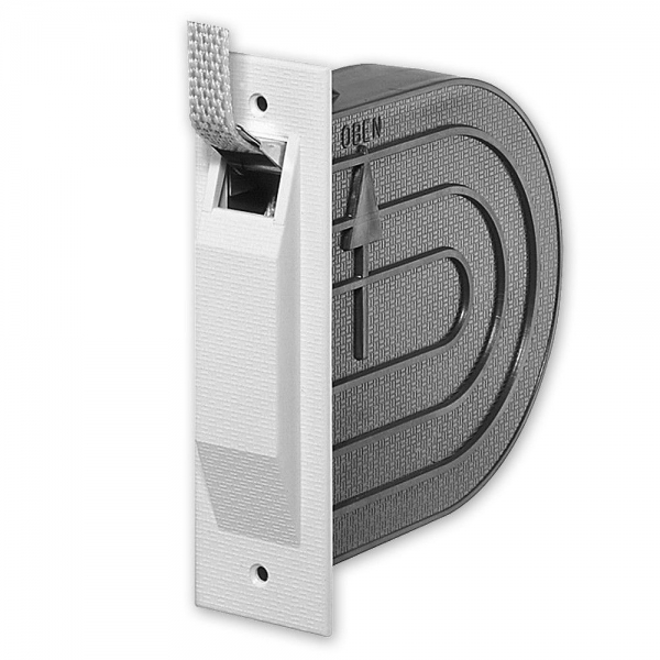 Selve® Mini-Gurtwickler, aufklappbar, schwenkbar, 22 mm breit, für 15 mm Gurt