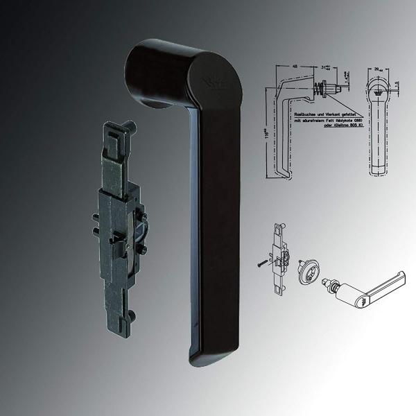 Schüco Fenstergriff (Steckgriff) & Kammergetriebe