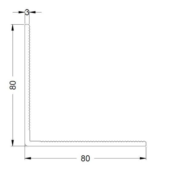 KS-Winkelprofil 80/80/3 | VE = 6m
