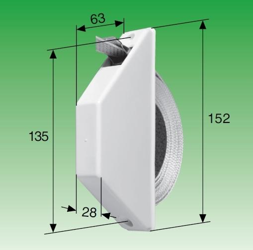 Selve Mini-Halbeinlass-Gurtwickler, für 15 mm Gurt