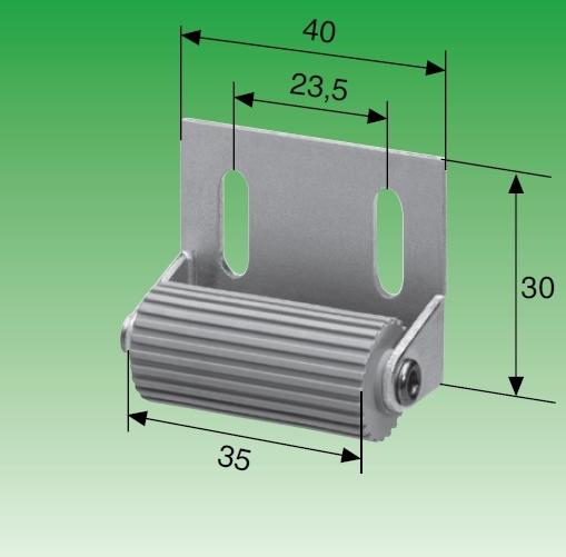 Selve Mini-Abdruckrolle mit verzinkter Stahlanschraubplatte