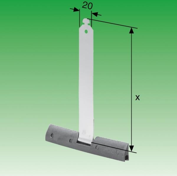 Selve Sicherungs- und Befestigungsfeder aus Federstahl und Kunststoff-Profil