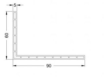 KS-Hohlkammer-Winkel 90/60/5 | VE = 2,65m