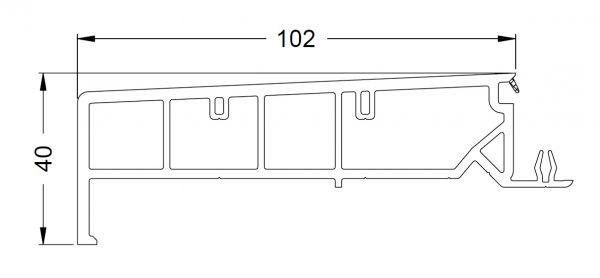 KS-Zargenprofil 102/40 | VE = 2,65m