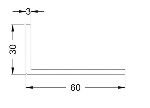 KS-Winkelprofil 60/30/3 | VE = 2,65m