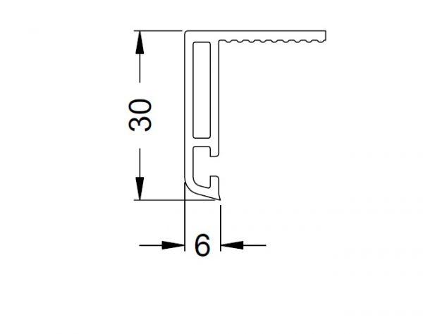 KS-Verkleidungsprofil 6/30 | VE = 6m