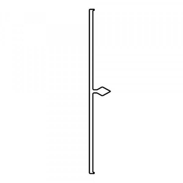 Alu-Abdeckprofil 70mm   VE = 6m