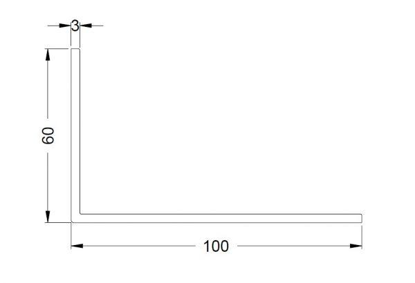 KS-Winkelprofil 100/60/3 | VE = 6m