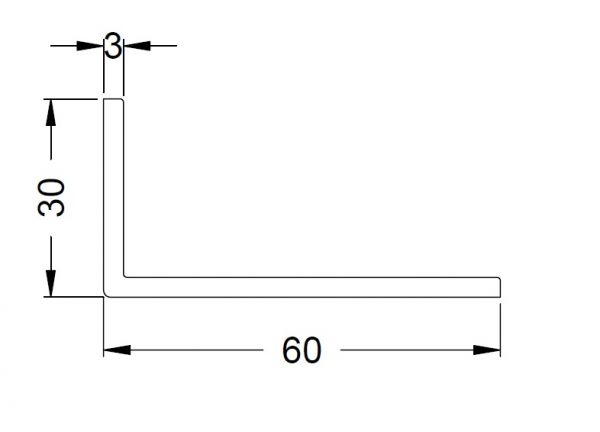 KS-Winkelprofil 60/30/3   VE = 6m