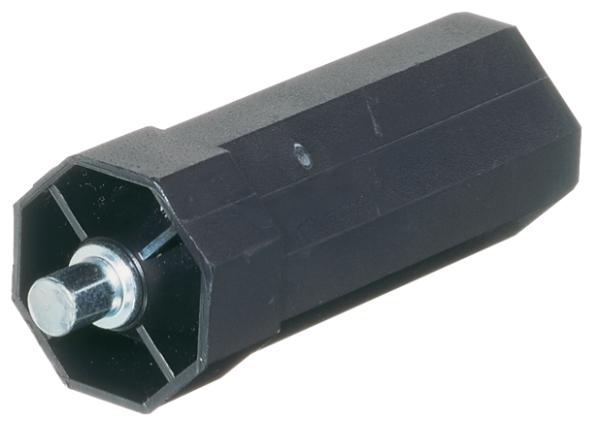 Mini-Walzenkapseln, lang, mit außenliegendem Achsstift ø 10 mm, für Stahlwelle SW 40